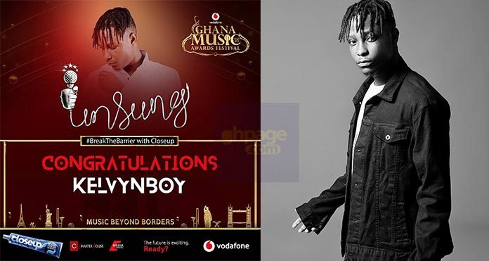 VGMA 2018: Kelvin Boy crowned the Closeup VGMA Unsung Artiste of the year