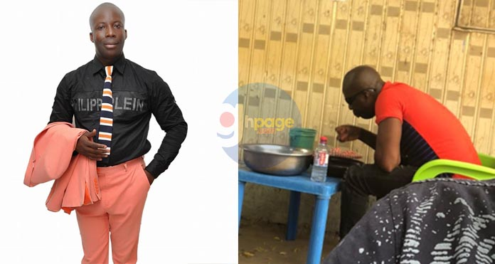 Photo of Prophet Kumchacha eating in a 'Chop Bar' goes viral