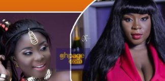 Maame Serwaa stuns in hot red photo and fans are drolling over it (Photos)