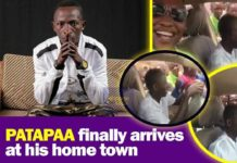 Massive Crowd Follows Patapaa At His Hometown (Video)