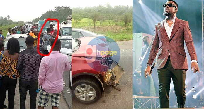 More photos and videos from Sarkodie's accident scene