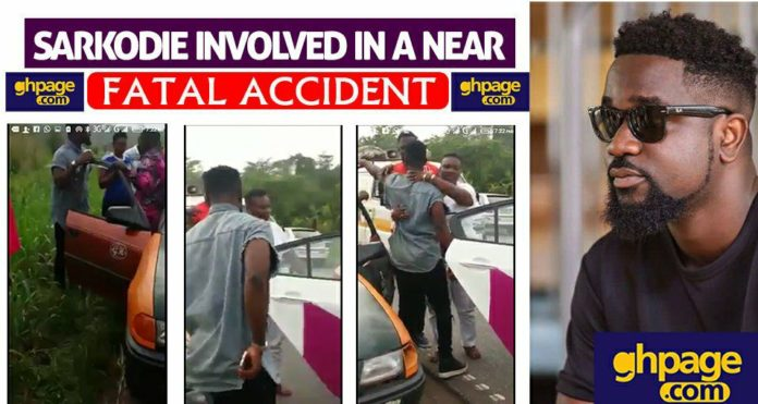 Video: Sarkodie involved in a near fatal accident