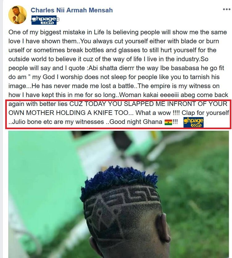 Shatta Wale Beats Up Shatta Michy And She Nearly Stabbed Him In Anger