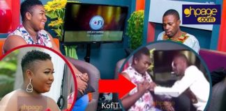 A video of Adom Fm presenter, Kofi Adoma fondling the boobs of popular Kumawood actress goes viral