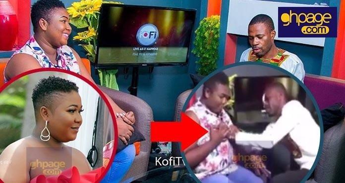 A video of Adom Fm presenter, Kofi Adoma fondling the b00bs of popular Kumawood actress goes viral