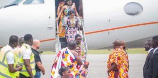 Nana Appiah Mensah arrives for Akwesidae with his Private Jet