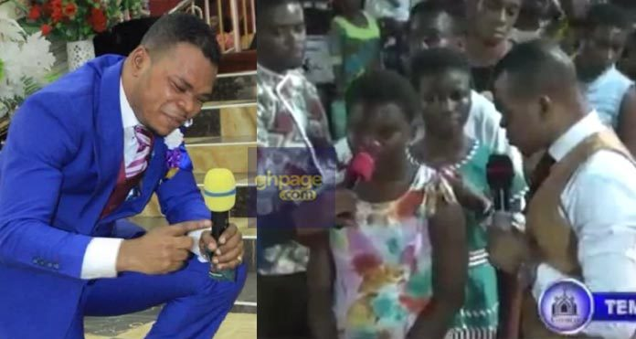 Video: 12-Year-Old Girl Runs To 'Angel' Obinim To Deliver Her From L£zbianism