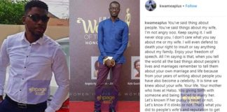 A Plus Lambasts Ameyaw Debrah And Goes Nasty On His Wife