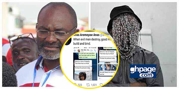 Anas Exposes Kennedy Agyapong By Releasing Screenshot Of Chats With Him