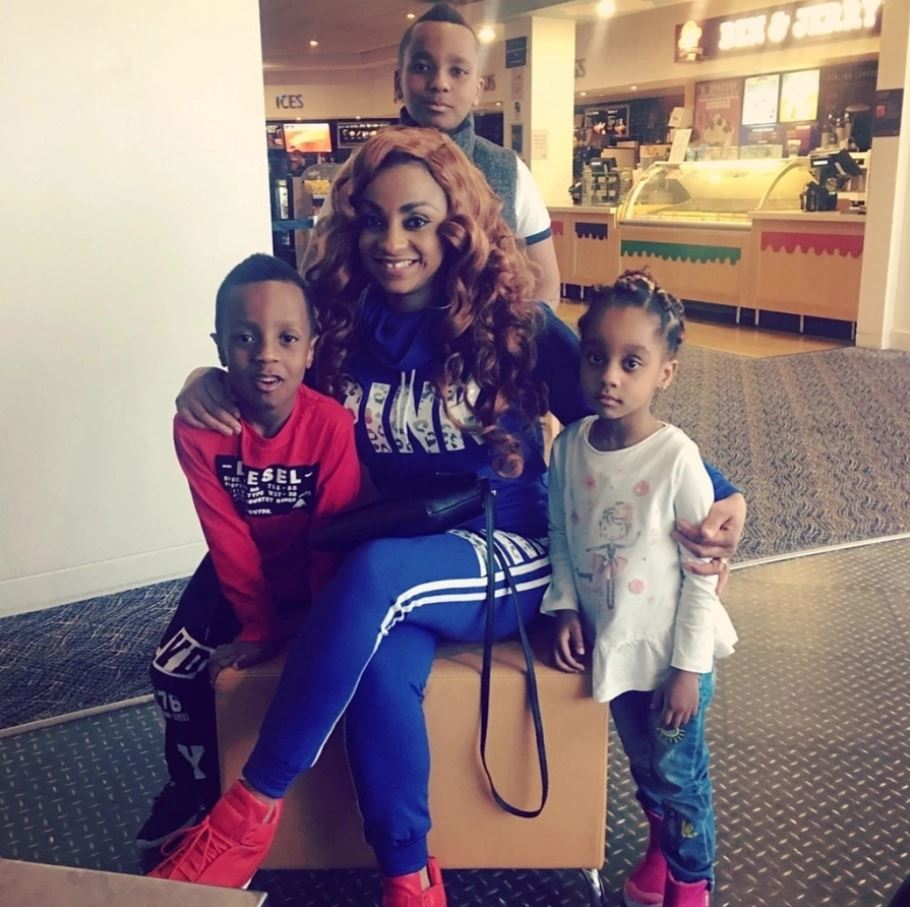 Asamoah Gyan's wife, Gifty Gyan and her Children
