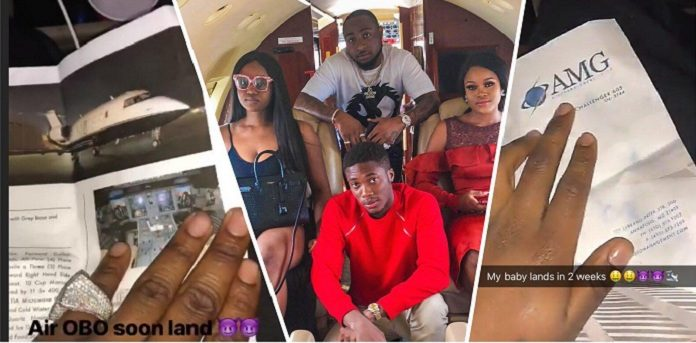 Davido Buys Himself A Private Jet; Flaunts Photos And Documents On Social Media [See Photos]