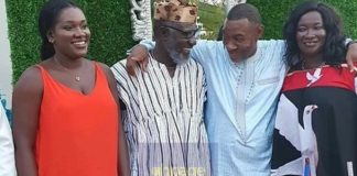 Ebony's Family All Happy As They Take Picture With Lawrence Tetteh On His Birthday