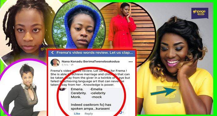 Ghanaians Ridicule Fremah For Mocking Emelia Brobbey In A Bad Language