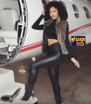 Jade Flury, the actress, and model who starred as Jasmine in Shatta Wale's gringo finally found.
