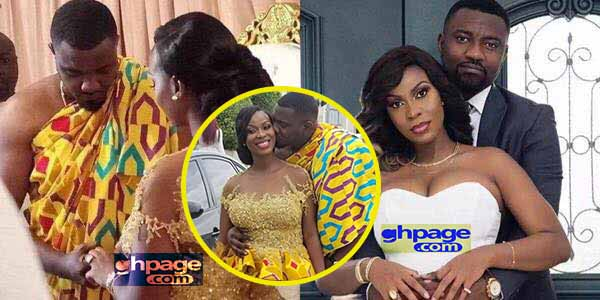 Here's a Photo of John Dumelo kissing his wife at their engagement