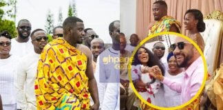 Video: Pastor Majid Michel Pops Up At John Dumelo's Traditional Wedding