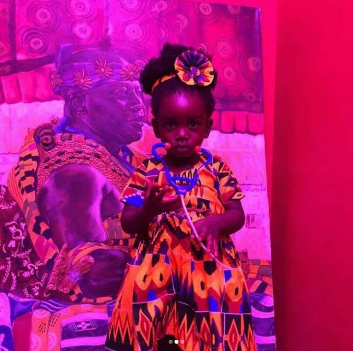 Sarkodie's daughter in a beautiful Kente Outfit in latest Pwrote,width=