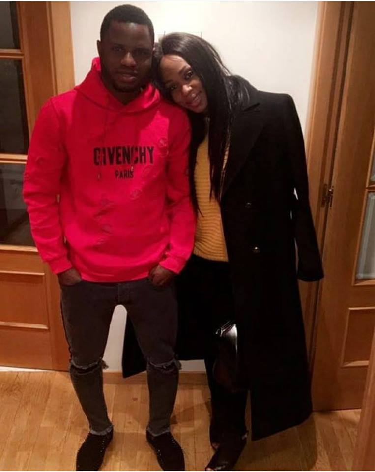 Mubarak Wakaso and wife, Nabuza