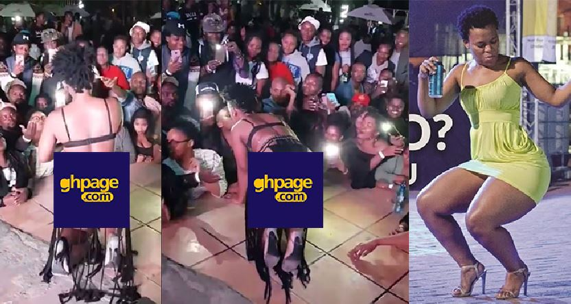 Video: South African Dancer Zodwa Wabantu Kisses All Her Fans Whilst Performing At A Night Club