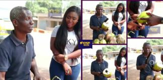 Video of a blind Ghanaian man selling coconut goes viral