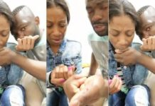 Couple making blood covenant to straighten their love goes viral