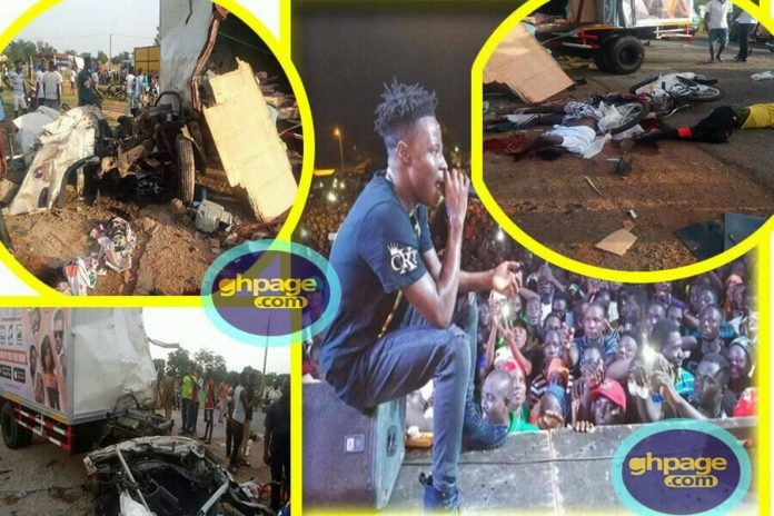 Eyewitness narrates how the accident involving Fancy Gadam's fans happened