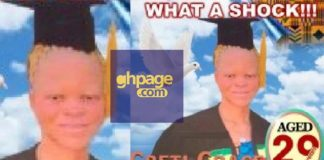 Photo: Obituary poster of an Albino pops up on the internet for the first time and people are dismayed