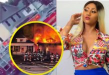Video: Police rescues Hajia4real as her house in USA caught fire