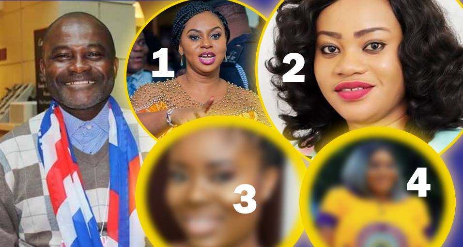 5 Ghanaian women Kennedy Agyapong is alleged to have dated