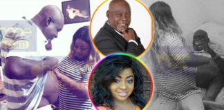 Photos of Kofi Adjorlolo in a compromising positon with a young lady, Shantel Essah goes viral