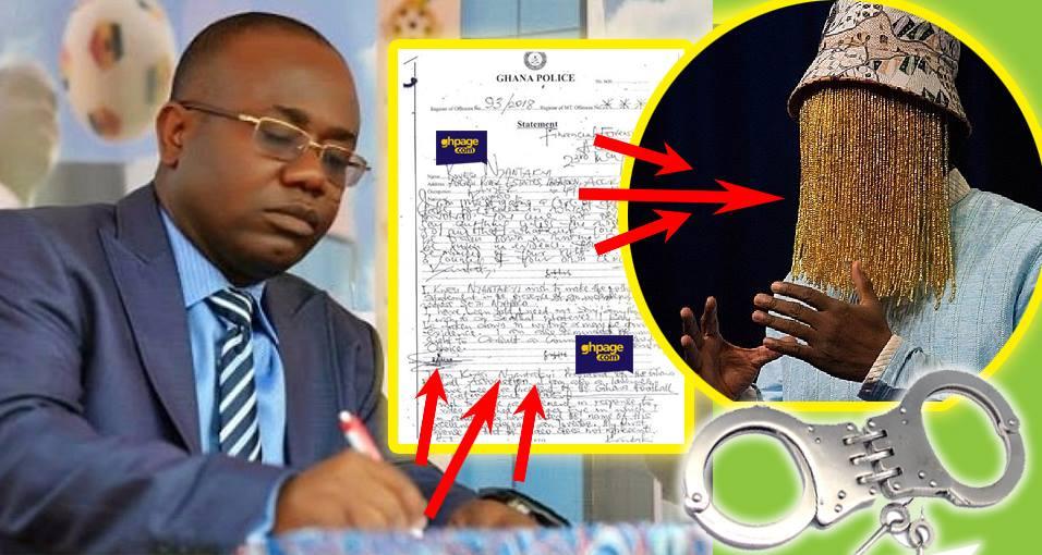 Kwesi Nyantakyi police statement's breaks silence on Anas Video and arrest