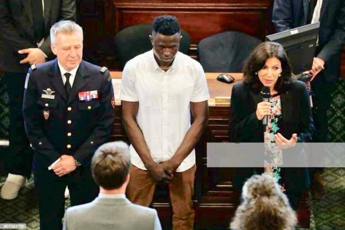 African Spiderman Awarded The City's Grand Vermeil Medal by Paris Mayor