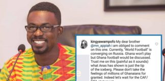 Ghanaians share there disappointment on Appiah Mensah for condemning Anas' exposé in GFA