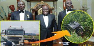Okyenhene Osaagyefo Amoatia Ofori Panin II unhurt after car accident at Ankaase