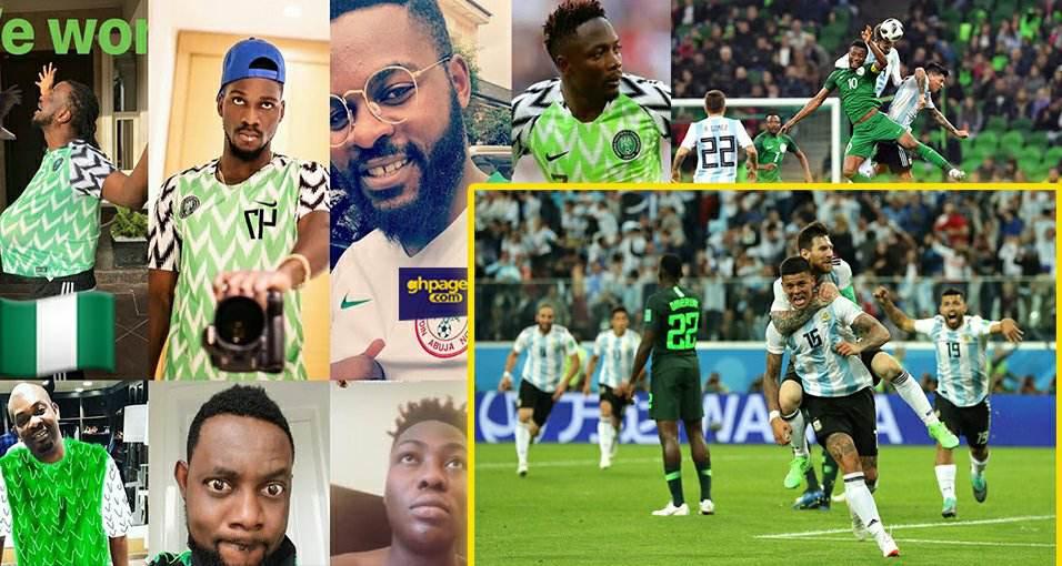Celebrities cry as Argentina beats Nigeria