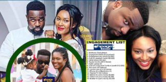 Sarkodie officially asks for Tracy's hand in marriage after Knocking Ceremony