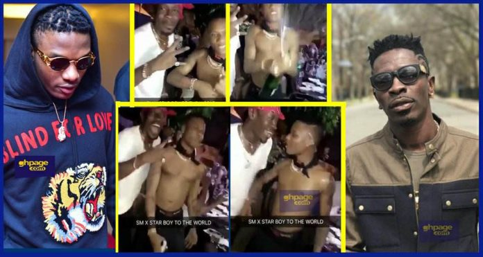 Wizkid Partying inside Shatta Wale's Mansion After Ghana Meets Naija