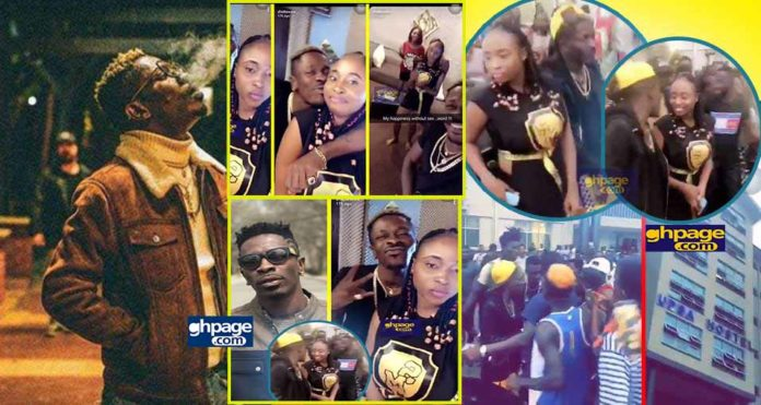 Shatta Wale mobbed at UPSA hostel when he went there to pick some girls home (Video)