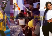 Wizkid and Tiwa Savage caught kissing in a Ghanaian club