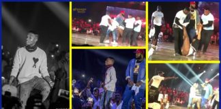Ghana meets Naija 2018: Female fan forcefully joins Wizkid on stage; fights with bodyguards