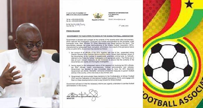 Statement: President Akufo-Addo dissolves GFA