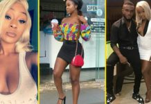 Efia Odo shares deep kiss with her boyfriend