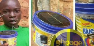 13-year old Ghanaian boy creatively builds solar device