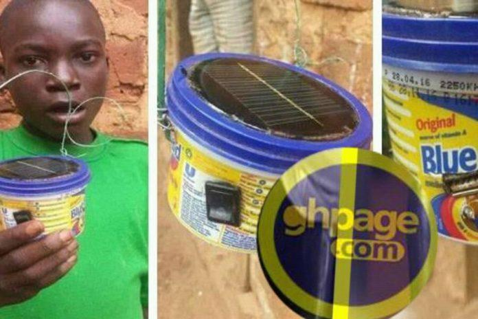 13-year old Ghanaian boy creatively builds solar device