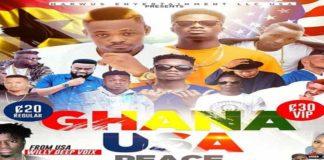 Ghana USA peace concert with Kidi, Kuami Eugene records less than 50 people