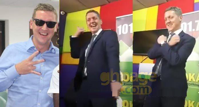 Video: British High Commissioner to Ghana sets social media ablaze with his 'Shaku Shaku' dance