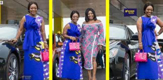 Jackie Appiah spends quality time with her son as she shows her fleet of cars