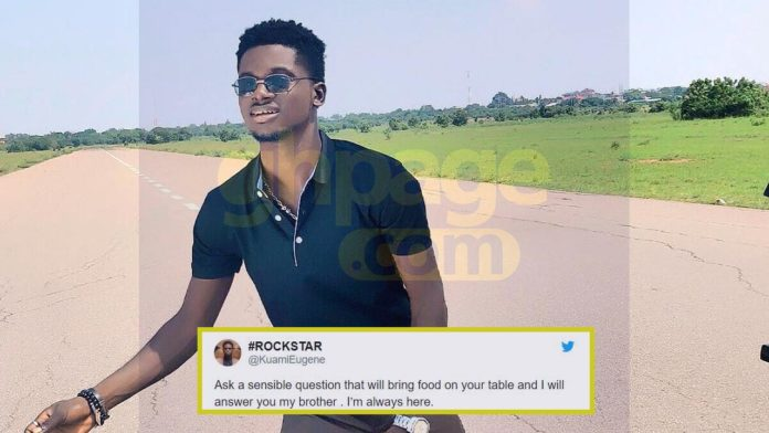 Kuami Eugene blast twitter user who asked question about his dressing