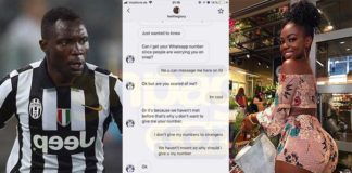 Germany-based Instagram model, Ohemaa Glory exposes Kwadwo Asamoah, shares screenshot of their chat