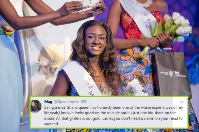 Reigning Miss Ghana queen reveals the competition is a big sham